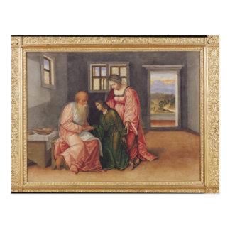 Isaac que bendice a Jacob, c.1520 Postal