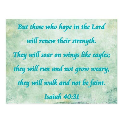 Isaías 40-31 postal