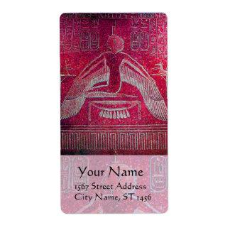 ISIS, antigüedad rosada Etiquetas De Envío