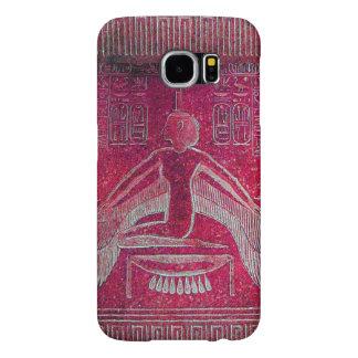 ISIS/diosa egipcia, rosa blanco rojo antiguo Fundas Samsung Galaxy S6