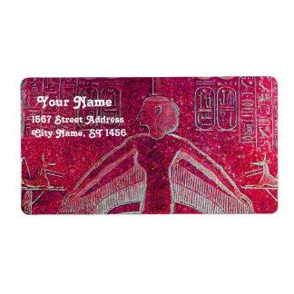 ISIS, negro rosado de la antigüedad Etiqueta De Envío