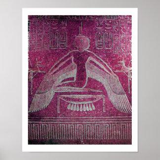 ISIS, rosa blanco rojo de la antigüedad Póster