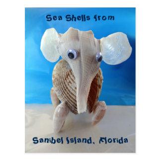 Isla animal FL de Sanibel del arte del elefante Postal