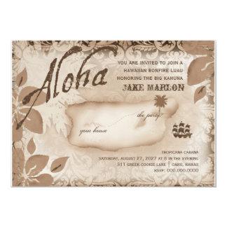 Isla Brown de Luau de la hawaiana de la Comunicados Personalizados