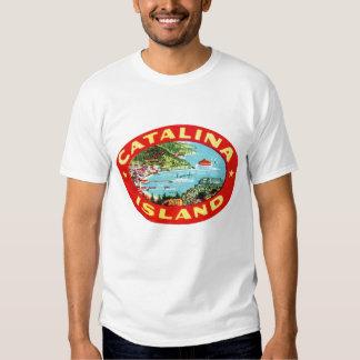 Isla California de Catalina del vintage Camisetas
