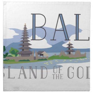 Isla de Bali de dioses Servilleta De Tela