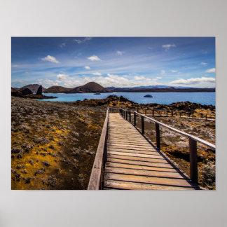 Isla de Bartolome en las islas de las Islas Póster