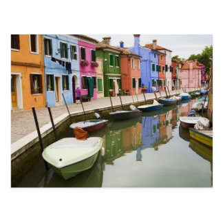 Isla de Burano, Burano, Italia. 4 coloridos Postal