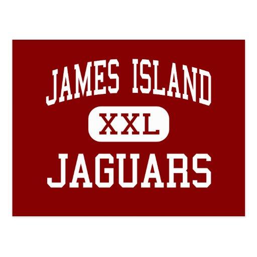 Isla de James - jaguares - centro - Charleston Tarjetas Postales