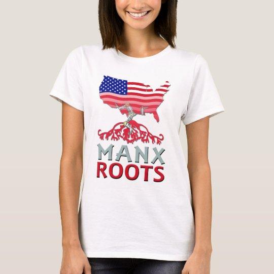 Isla de la camiseta americana de la Isla de Man