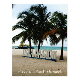 Isla de la pasión, postal de Cozumel