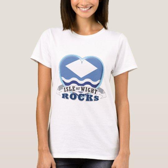 Isla de las rocas del Wight Camiseta