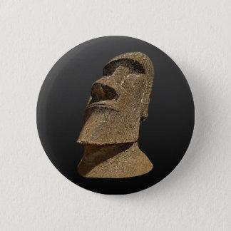 Isla de pascua Moai - BG negra - botón redondo