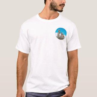 isla de pascua, moai camiseta