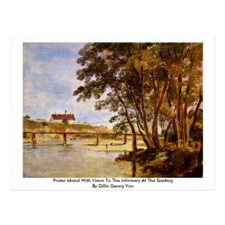 Isla de Prater con vistas a la enfermería Tarjetas Postales