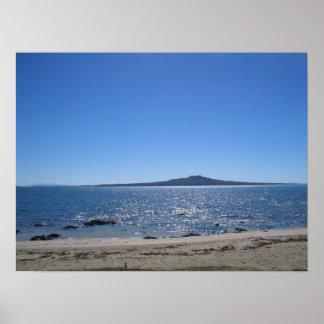 Isla de Rangitoto, Nueva Zelanda Póster