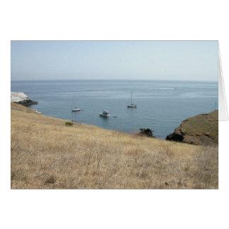 Isla de Santa Cruz California Tarjeton