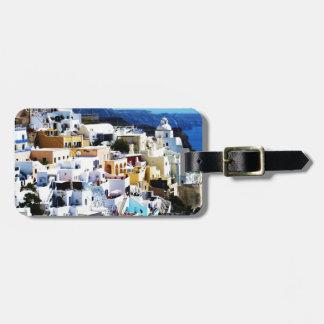 Isla de Santorini en la FOTO de Grecia Etiqueta Para Maletas