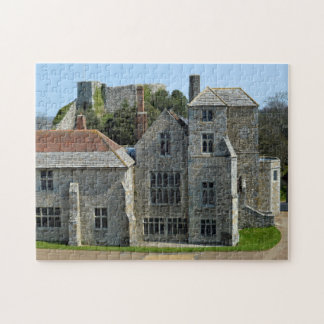 Isla del castillo de Carisbrook del wight. Puzzle