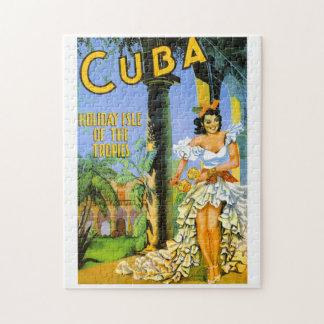 Isla del día de fiesta de Cuba del poster del Puzzle