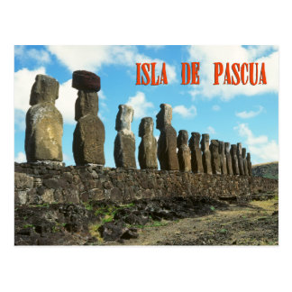 Isla del éster (Isla de Pascua) Postal