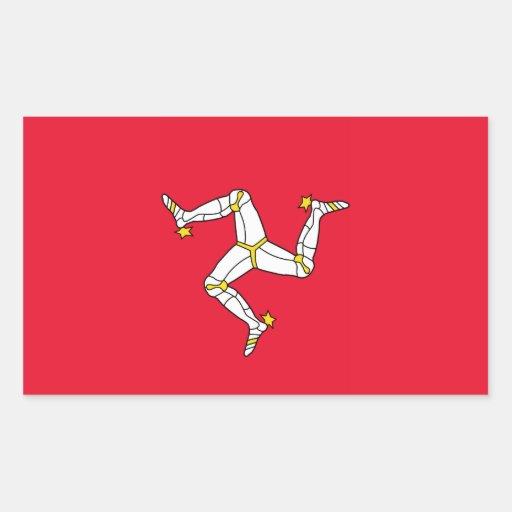 Isla del hombre - bandera de la Isla de Man Rectangular Pegatina