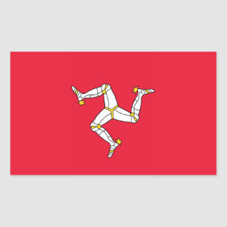 Isla del hombre - bandera de la Isla de Man Rectangular Altavoz