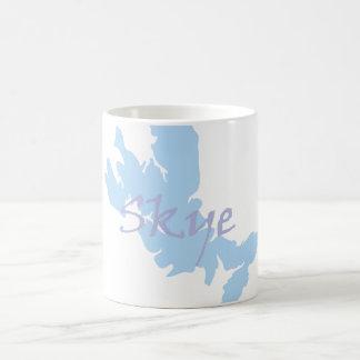 Isla del mapa de Skye y de la taza del texto