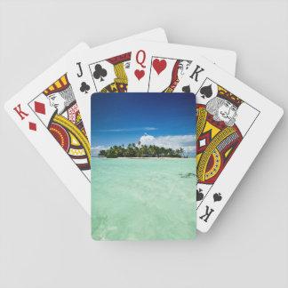 Isla del Pacífico con la cubierta del póker de las Barajas De Cartas