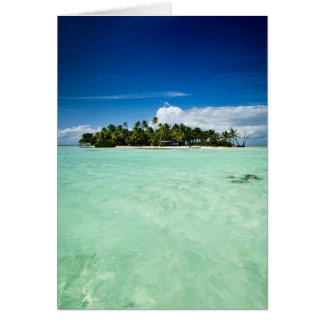 Tarjeta Isla del Pacífico con la tarjeta de felicitación