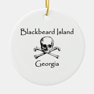 Isla Georgia Rogelio alegre de Blackbeard Adorno De Cerámica