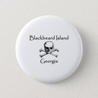Isla Georgia Rogelio alegre de Blackbeard Chapa Redonda De 5 Cm