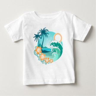 Isla hawaiana 1 camiseta de bebé