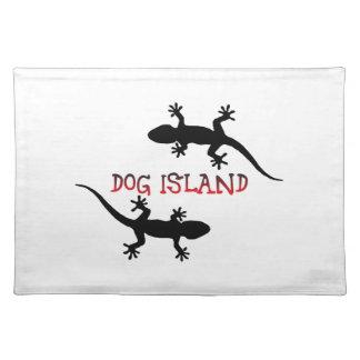 Isla la Florida del perro Salvamanteles