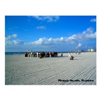 Isla la Florida - un boda de Marco de playa Postal