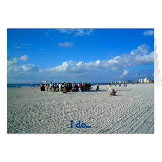 Isla la Florida - un boda de Marco de playa Tarjeta De Felicitación
