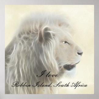 Isla Suráfrica de Robben Poster