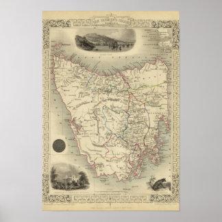 Island de Van Diemen o Tasmania Impresiones
