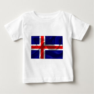 Islandia-Bandera Camiseta De Bebé