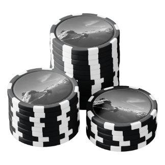 Islandia blanco y negro en invierno juego de fichas de póquer