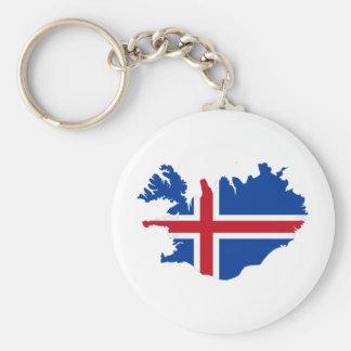 Islandia ES mapa de la bandera de Ísland Llavero