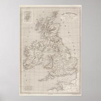 Islas británicas póster
