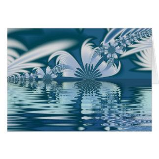 Islas de la pluma tarjeta de felicitación