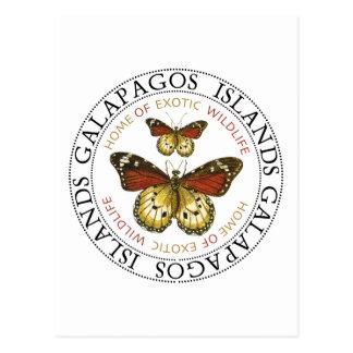 Islas de las Islas Galápagos de las mariposas Postal