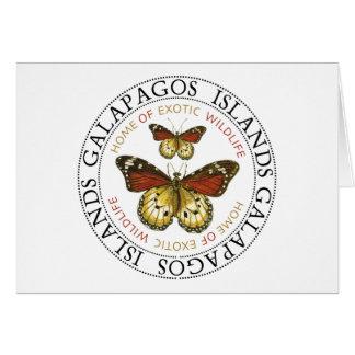 Islas de las Islas Galápagos de las mariposas Tarjeta De Felicitación