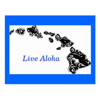 Islas hawaianas de la hawaiana viva tarjeta postal