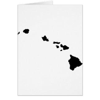 Islas hawaianas tarjeta