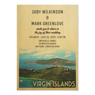 Islas Vírgenes que casan el vintage USVI BVI de la Invitación 12,7 X 17,8 Cm