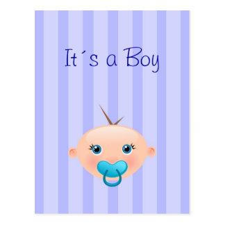 It´s un muchacho - postal de la invitación del