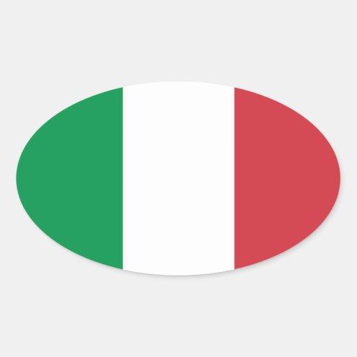 Italia - bandera nacional italiana pegatinas de ovaladas